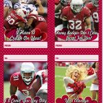 Download And Print A Set Of 12 Free Arizona Cardinals Valentine's   Free Printable Football Valentines Day Cards