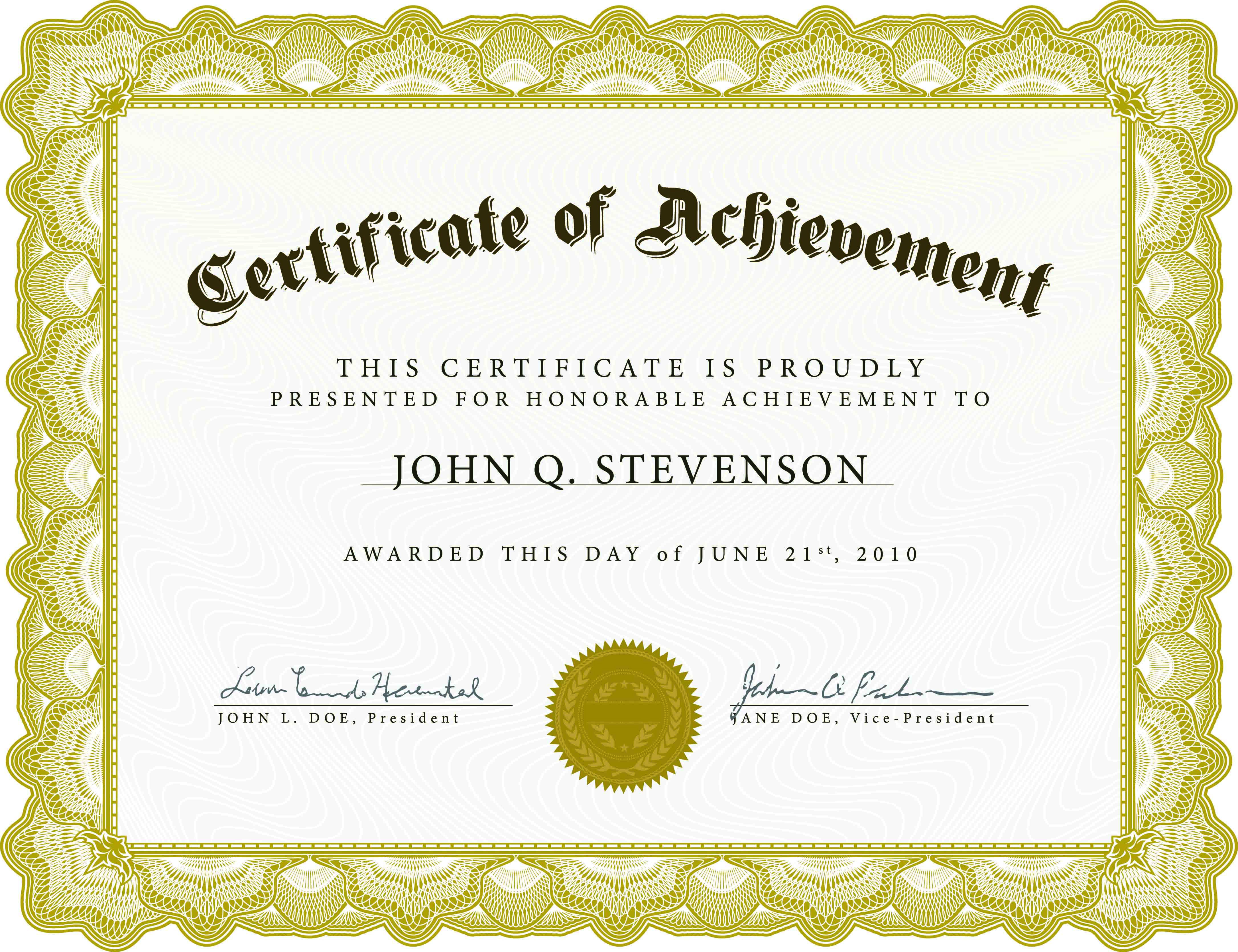 Download Blank Certificate Template X3Hr9Dto | St. Gabriel's Youth - Free Customizable Printable Certificates Of Achievement