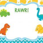 Download Free Dinosaur Birthday Invitations | Bagvania Invitation In   Free Printable Dinosaur Birthday Invitations
