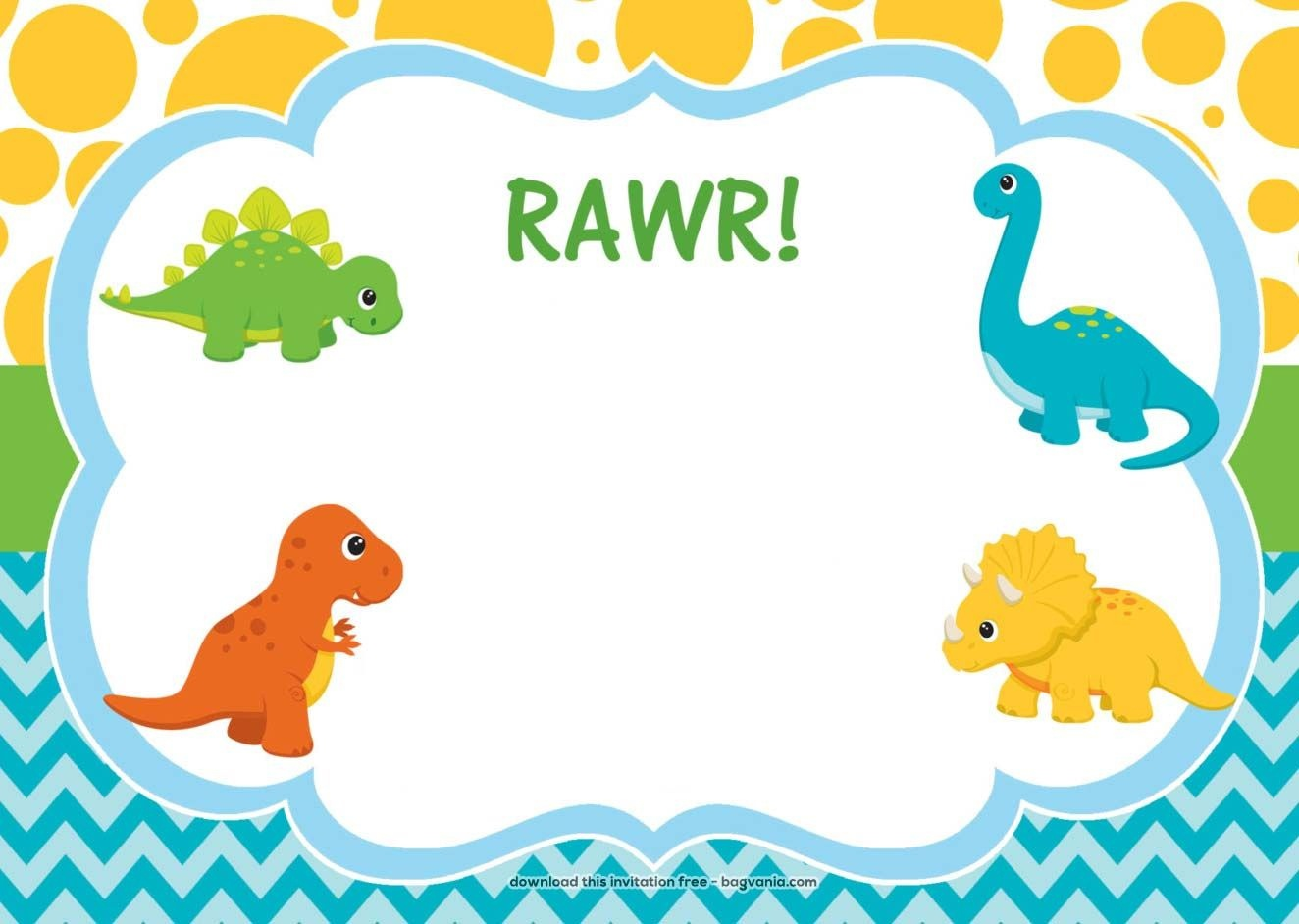 Download Free Dinosaur Birthday Invitations | Bagvania Invitation In - Free Printable Dinosaur Birthday Invitations