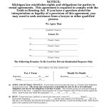 Download Free Michigan Residential Lease Agreement   Printable Lease   Free Printable Michigan Residential Lease Agreement
