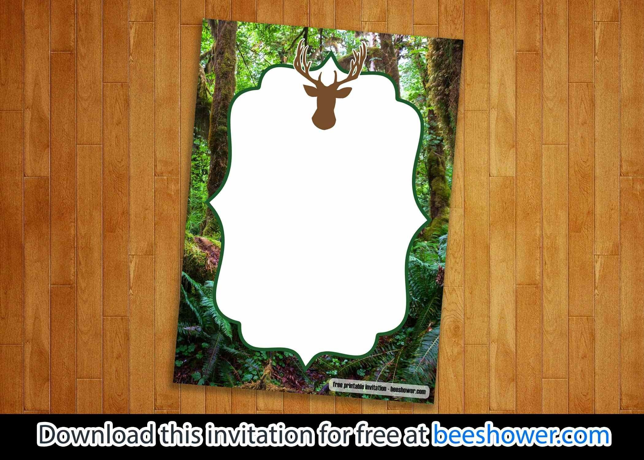 Download Free Printable Camo Baby Shower Invitations | Beeshower - Free Printable Camo Baby Shower Invitations