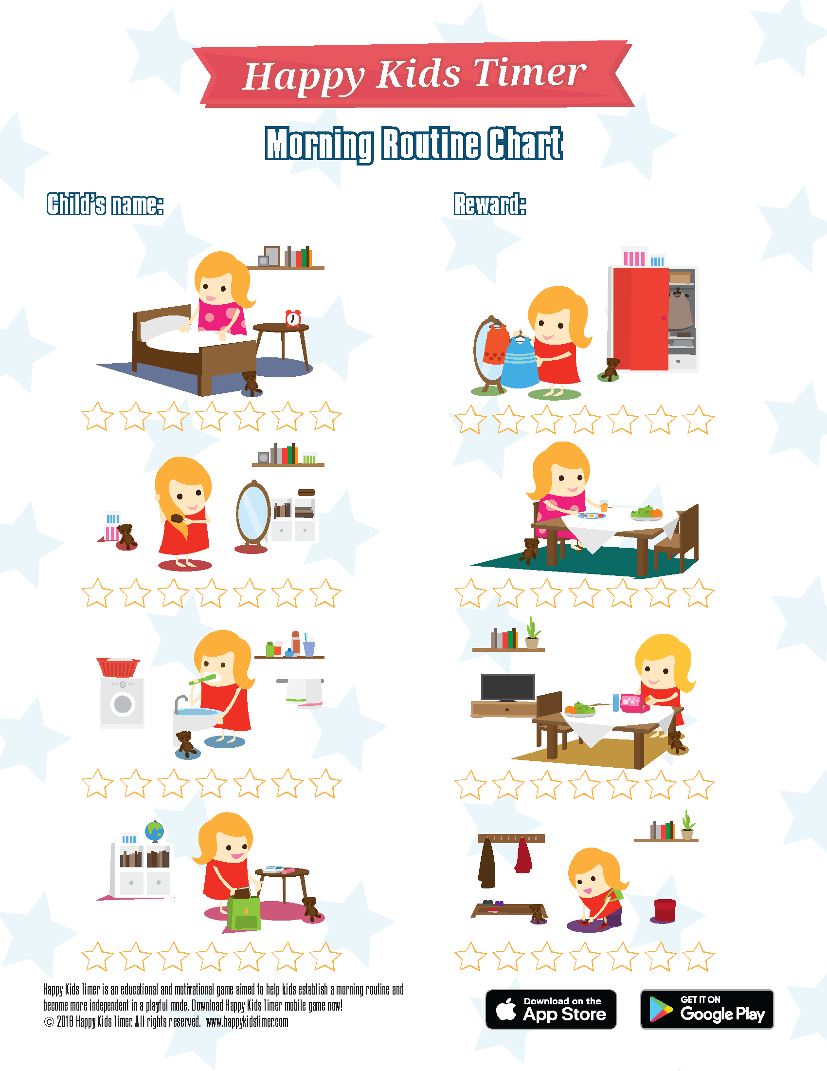 Download Free Printable Morning Routine Chart - Free Printable Morning Routine Charts With Pictures