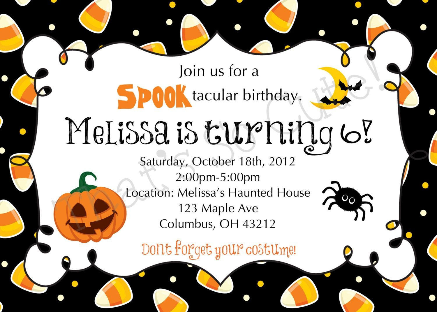 Download Free Template Free Printable Halloween Birthday Party - Free Printable Halloween Party Invitations
