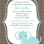 Download Free Template Got The Free Baby Shower Invitations   Free Baby Elephant Printables