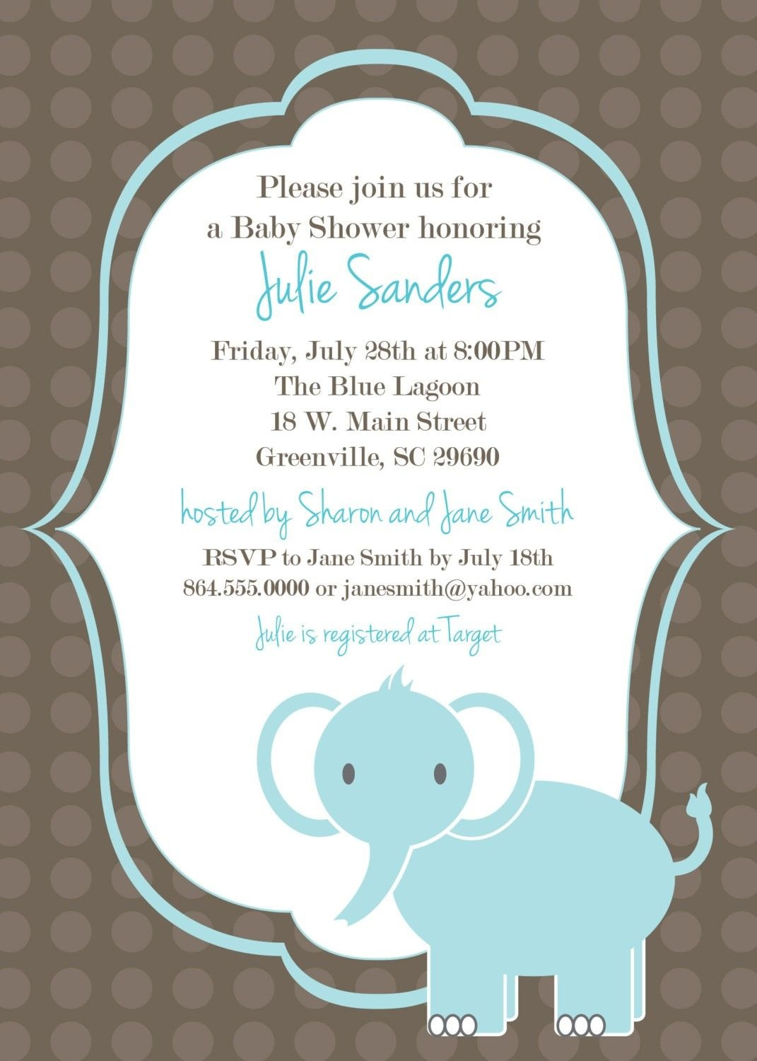 Download Free Template Got The Free Baby Shower Invitations - Free Printable Baby Elephant Template