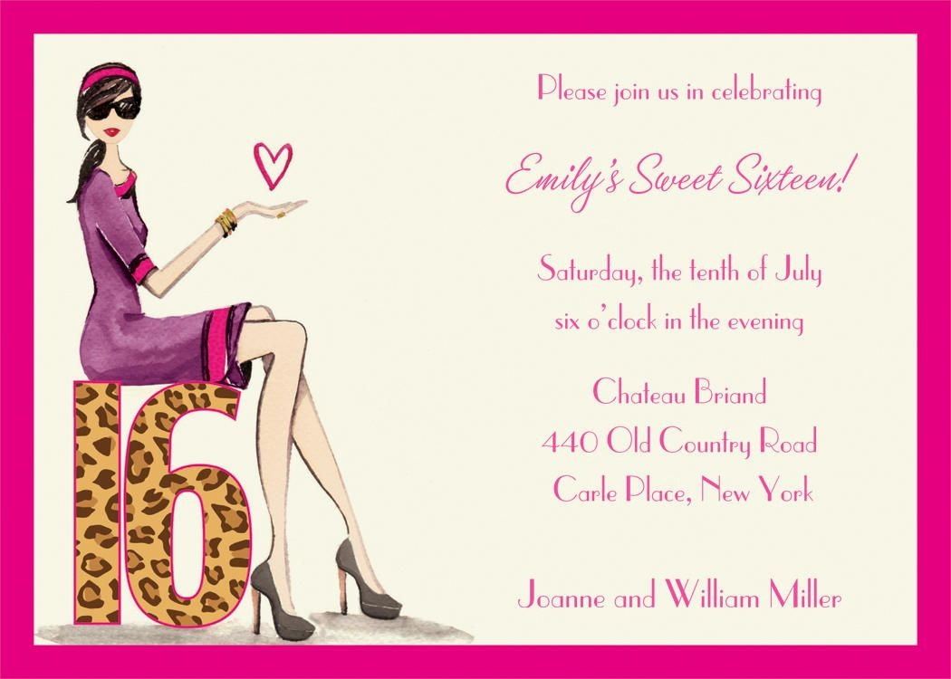 Download Free Template Sweet 16 Birthday Invitations Templates - Free Printable 16Th Birthday Party Invitation Templates