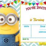 Download Now Free Printable Minion Birthday Invitation Templates   Printable Invitations Free No Download