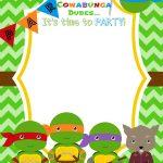Download Now Free Printable Ninja Turtle Birthday Party Invitations   Free Ninja Turtle Printables