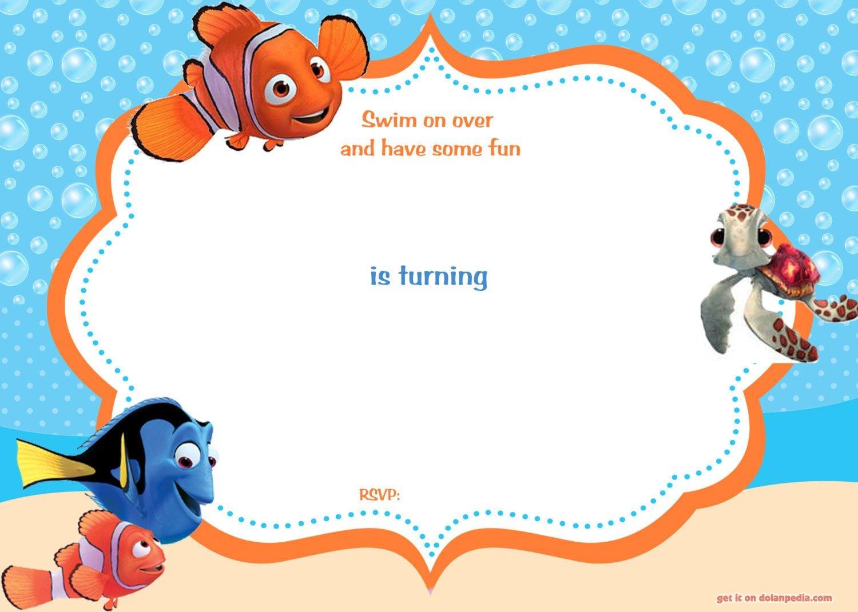 Download Now Free Template Free Printable Finding Nemo Birthday - Free Nemo Printables