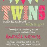 Download Now Free Template Twin Baby Girl Shower Invitations   Free Printable Twin Baby Shower Invitations
