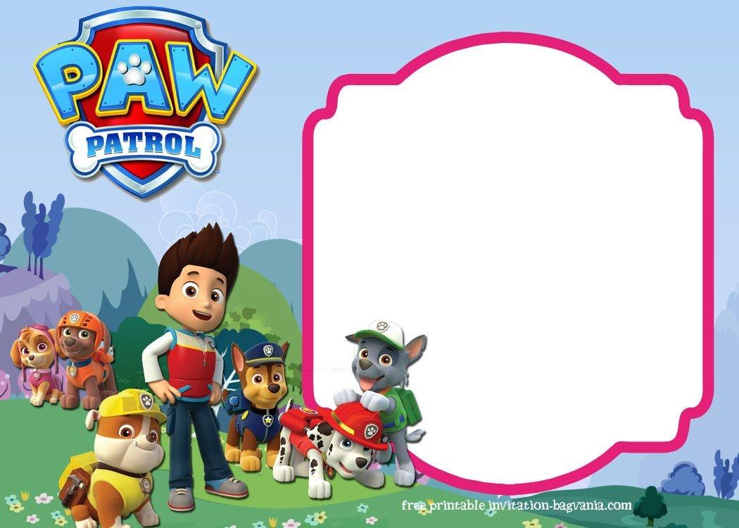 Download Paw Patrol Birthday Invitation Template - Most Complete - Paw Patrol Free Printables Invitations