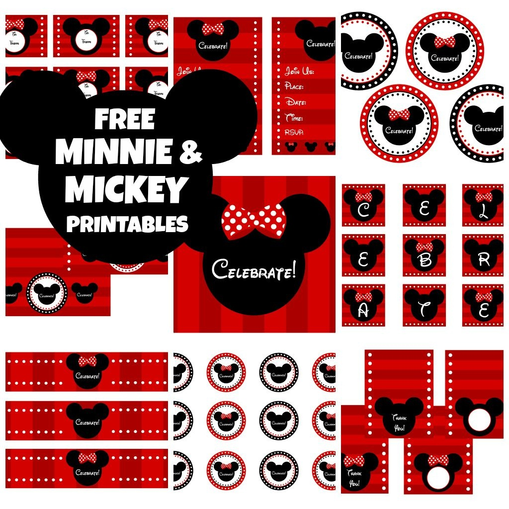 Download These Awesome Free Mickey & Minnie Mouse Printables - Free Minnie Mouse Printables