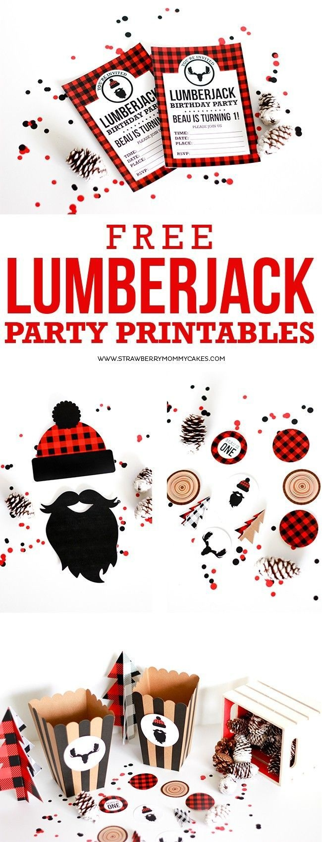 Download These Free Lumberjack Party Printables | Let's Celebrate - Lumberjack Printables Free