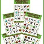 Download This Awesome Minecraft Party Game   Free Printable Bingo   Free Printable Minecraft Bingo Cards