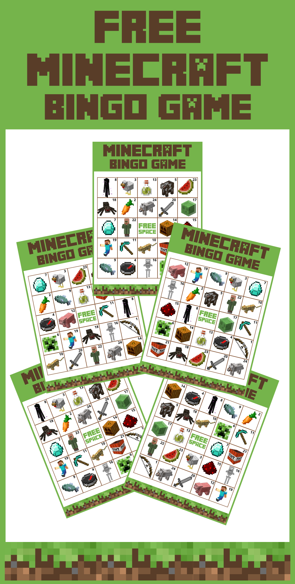 Download This Awesome Minecraft Party Game - Free Printable Bingo - Free Printable Minecraft Bingo Cards