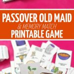 Download This Printable Passover Game: A Deck Of Hand Illustrated   Free Printable Old Maid Card Game