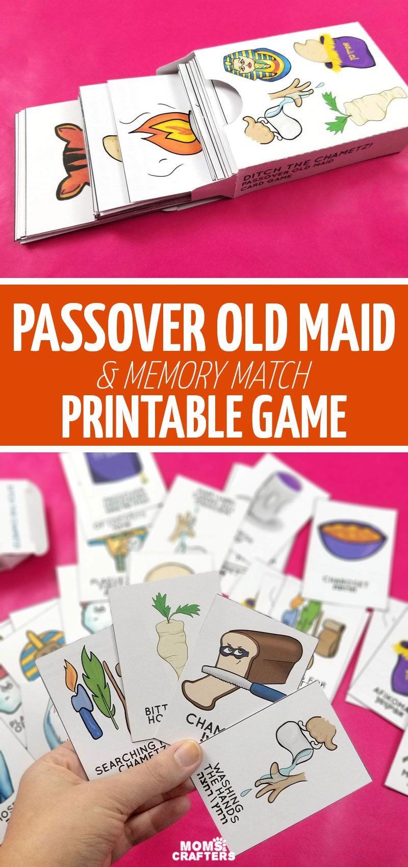 Download This Printable Passover Game: A Deck Of Hand-Illustrated - Free Printable Old Maid Card Game
