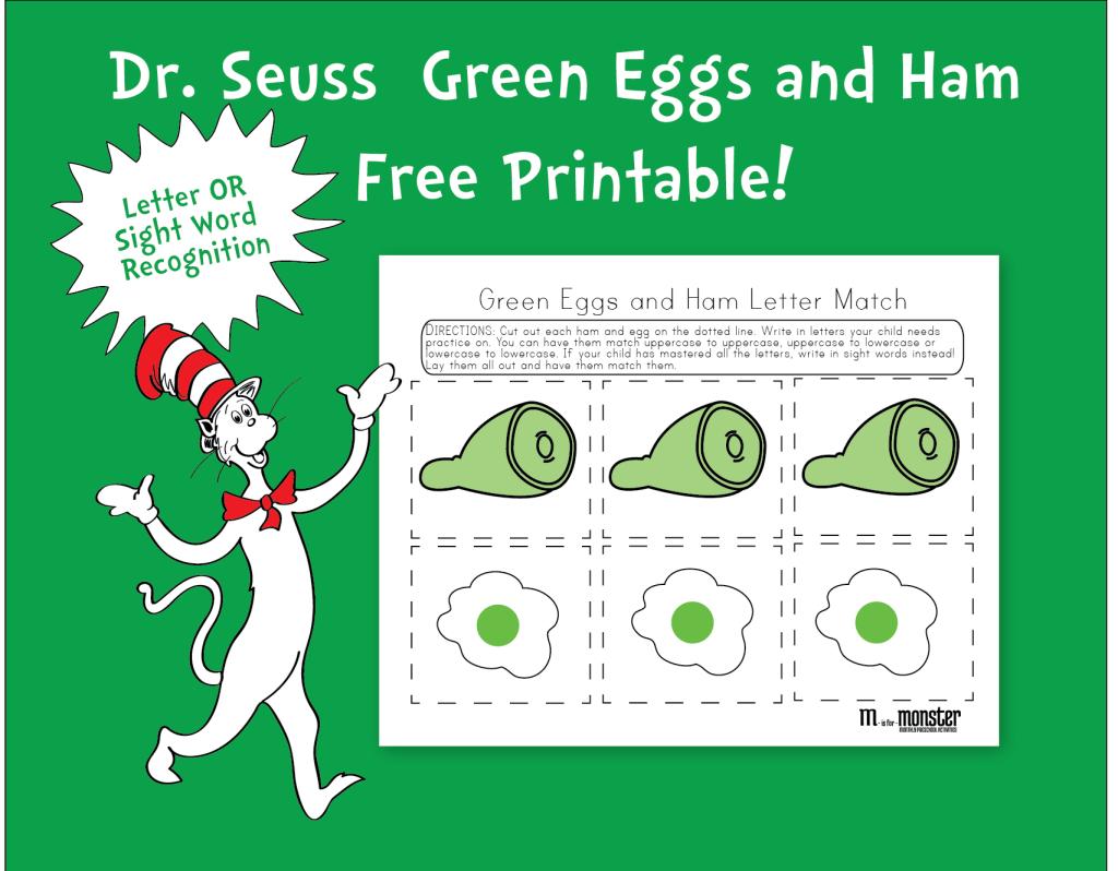 Dr. Seuss Green Eggs And Ham Free Printable   Toddler & Preschool - Green Eggs And Ham Free Printables
