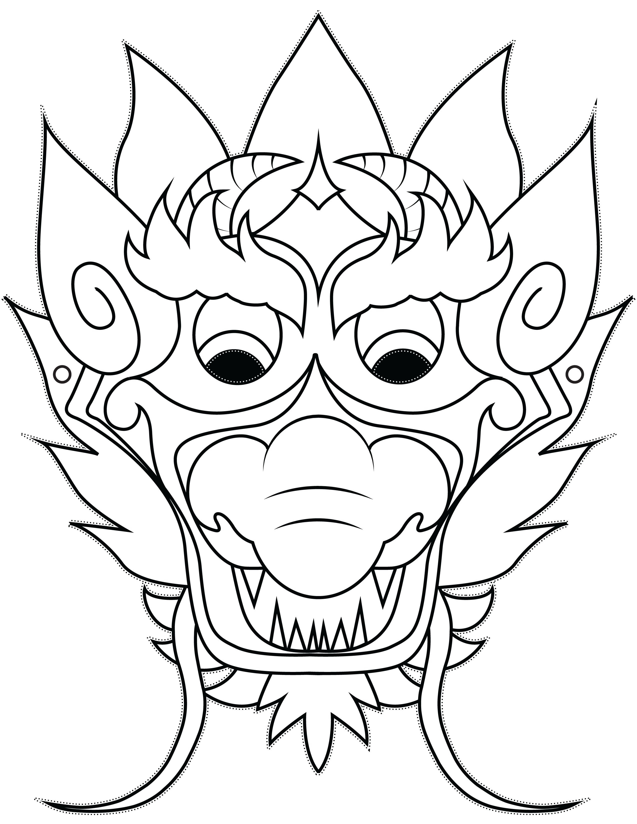 Dragon Mask   Simple And Easy Dragon Crafts Made From Paper - Dragon Mask Printable Free