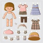 Dress Up Cute Paper Doll With Body Template Royalty Free Cliparts   Free Printable Dress Up Paper Dolls