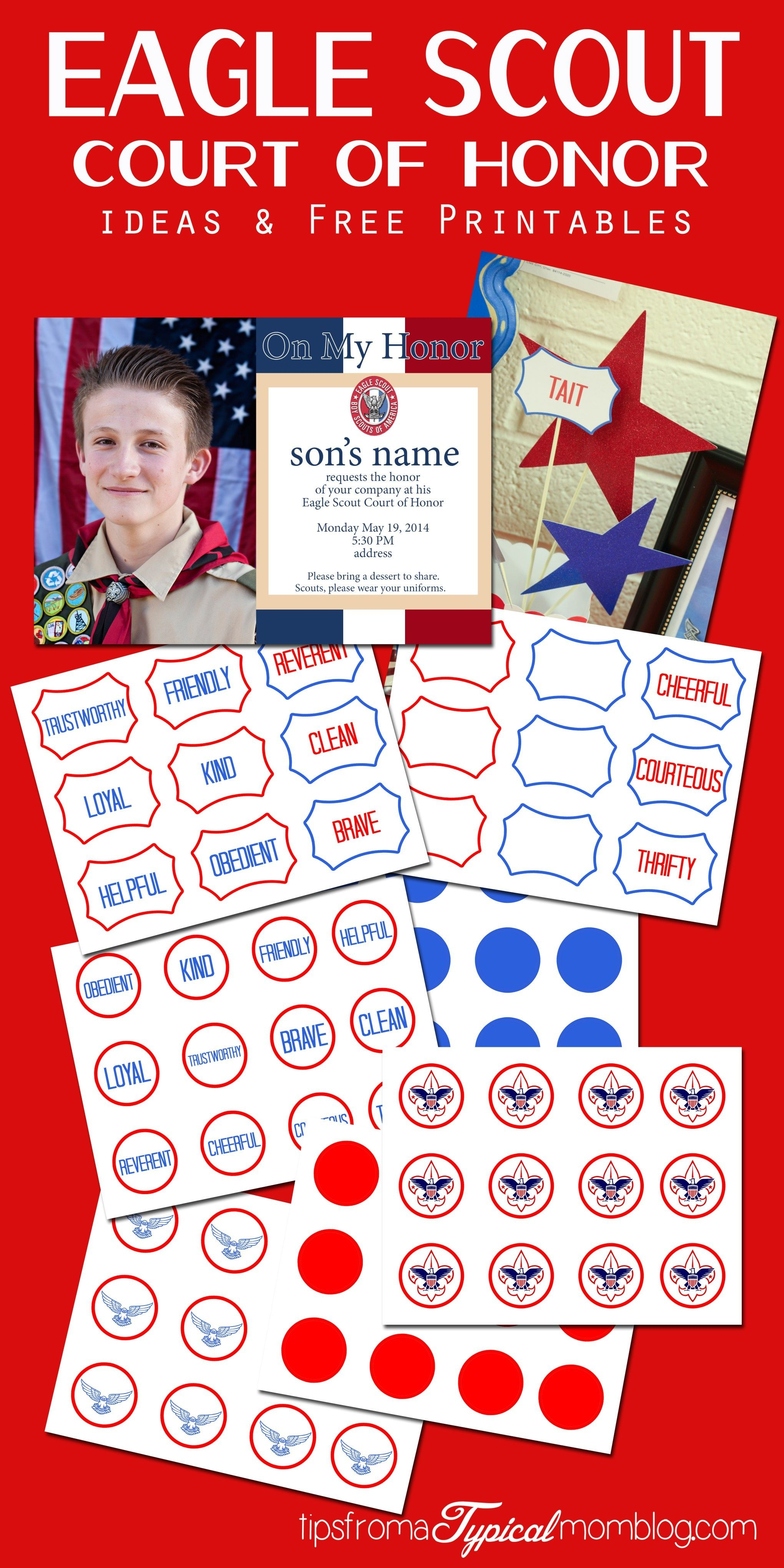 Eagle Scout Court Of Honor Ideas And Free Printables   Projects To - Free Eagle Scout Printables