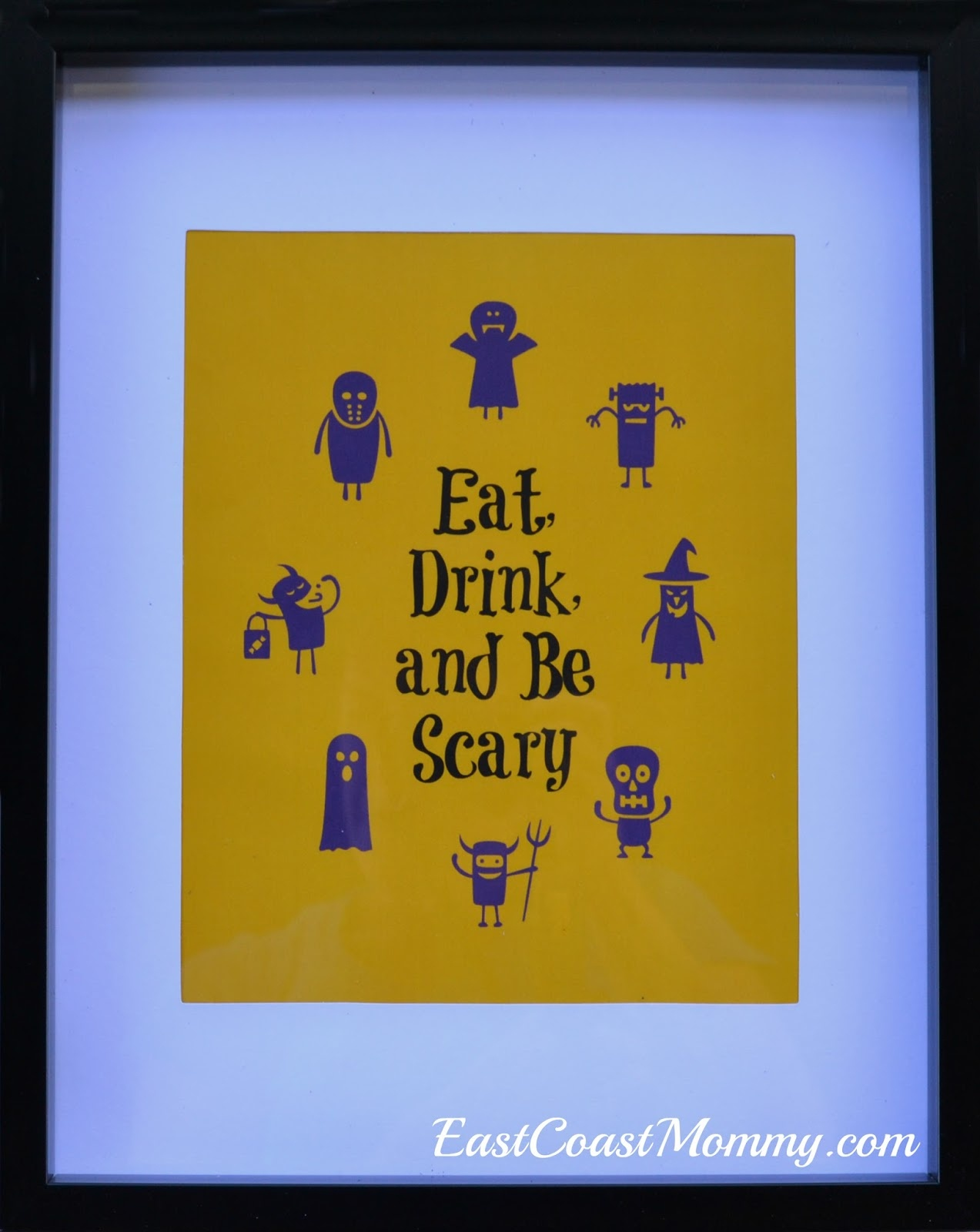 East Coast Mommy: Free Halloween Printable (Eat, Drink, And Be Scary) - Eat Drink And Be Scary Free Printable