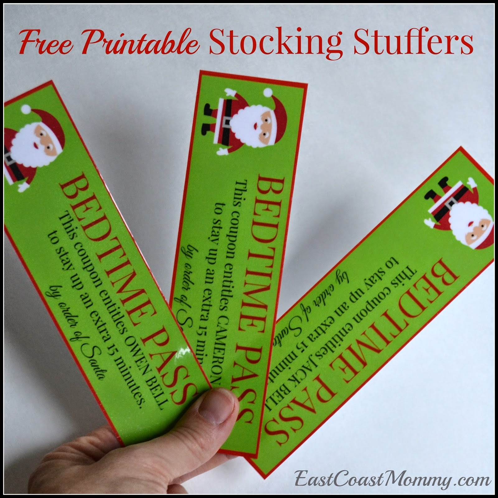 East Coast Mommy: Stocking Stuffer Coupons {Free Printable} - Free Printable Stocking Stuffers
