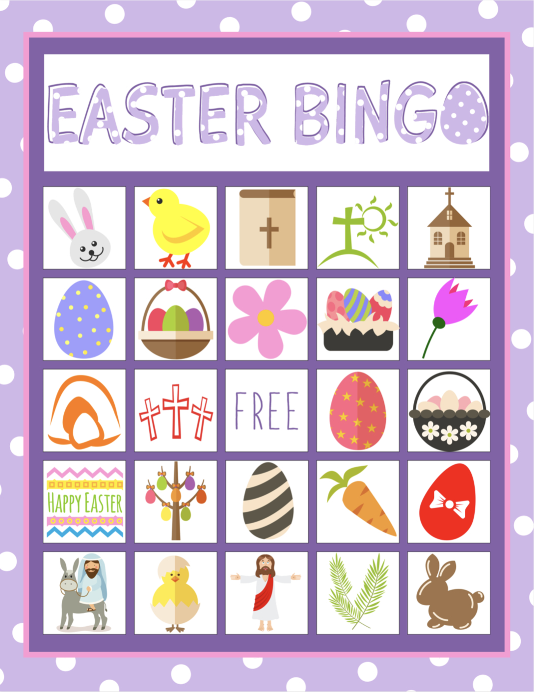 Easter Bingo Game For Kids | Children's Pastor Only | Easter Bingo - Bible Bingo Free Printables