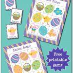 Easter Bingo Game {Free Printable} | Gift Of Curiosity | Easter   Free Printable Religious Easter Bingo Cards