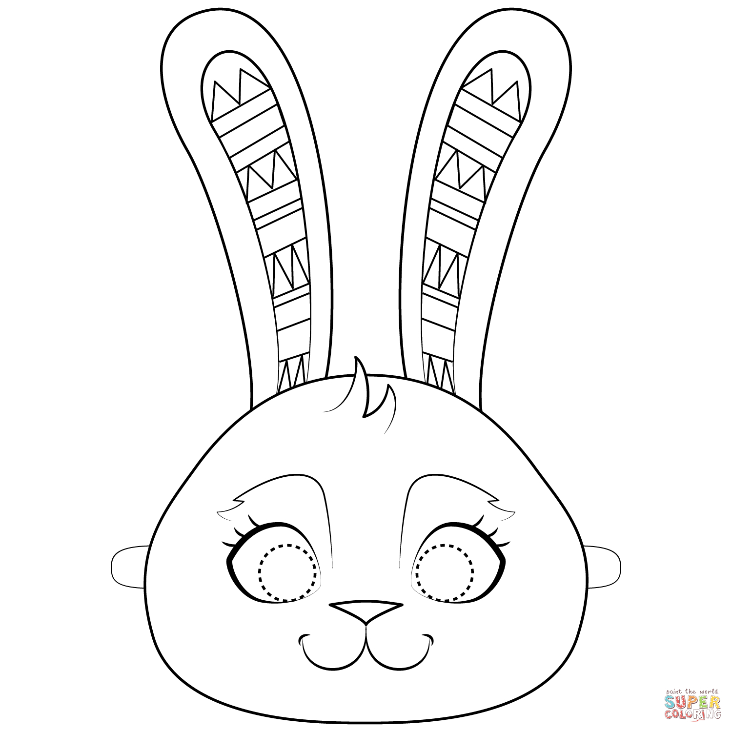 Easter Bunny Mask Coloring Page | Free Printable Coloring Pages - Free Printable Easter Masks