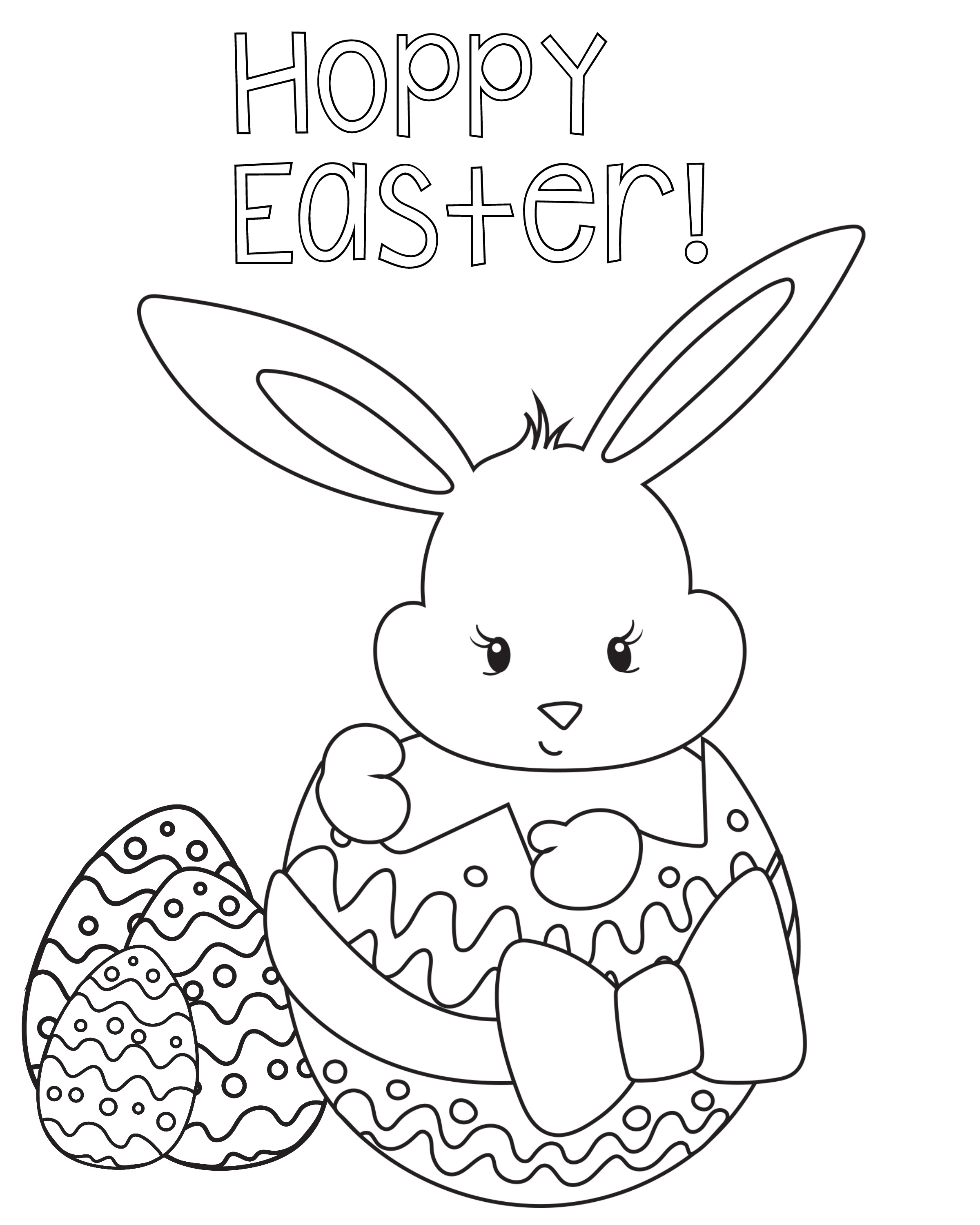 Easter Coloring Pages For Kids - Crazy Little Projects - Free Coloring Printables