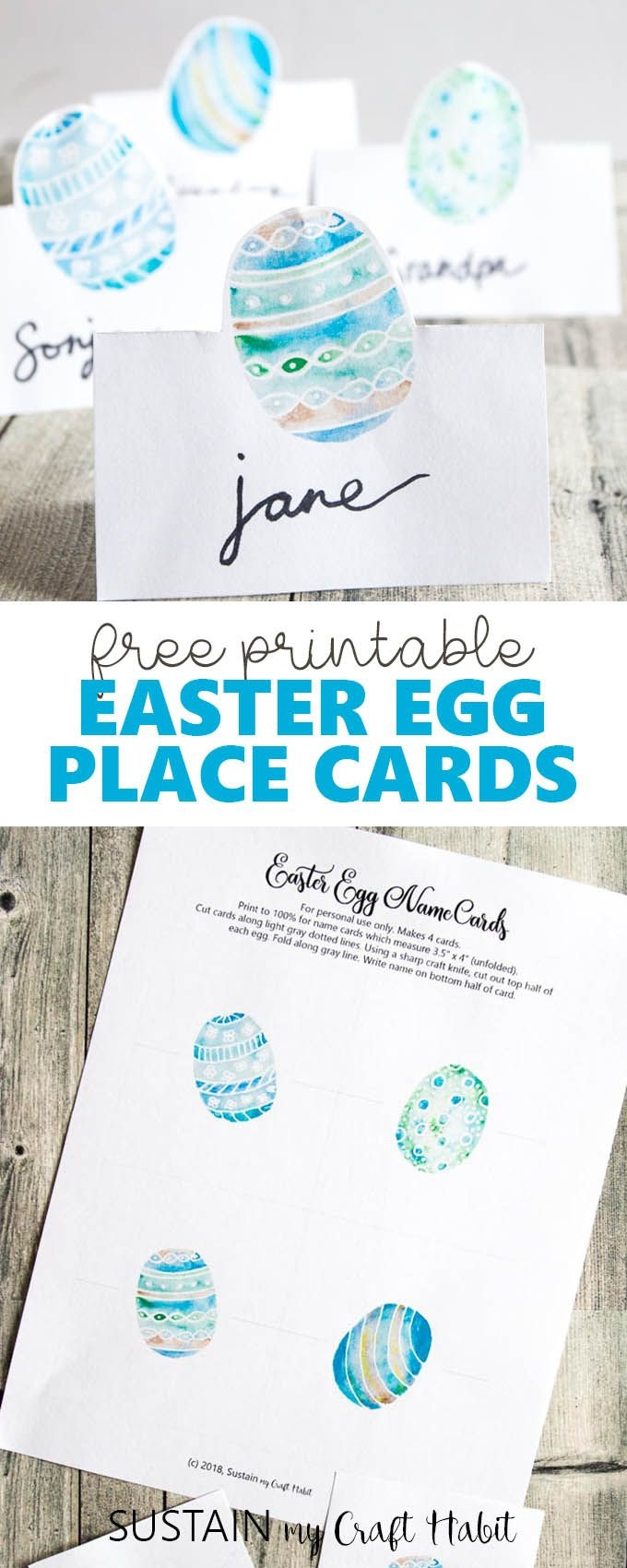 Easter Egg Place Cards Printable | Easter | Easter, Easter - Free Easter Place Cards Printable