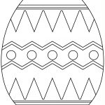 Easter Egg With Abstract Pattern Coloring Page | Free Printable   Easter Egg Coloring Pages Free Printable