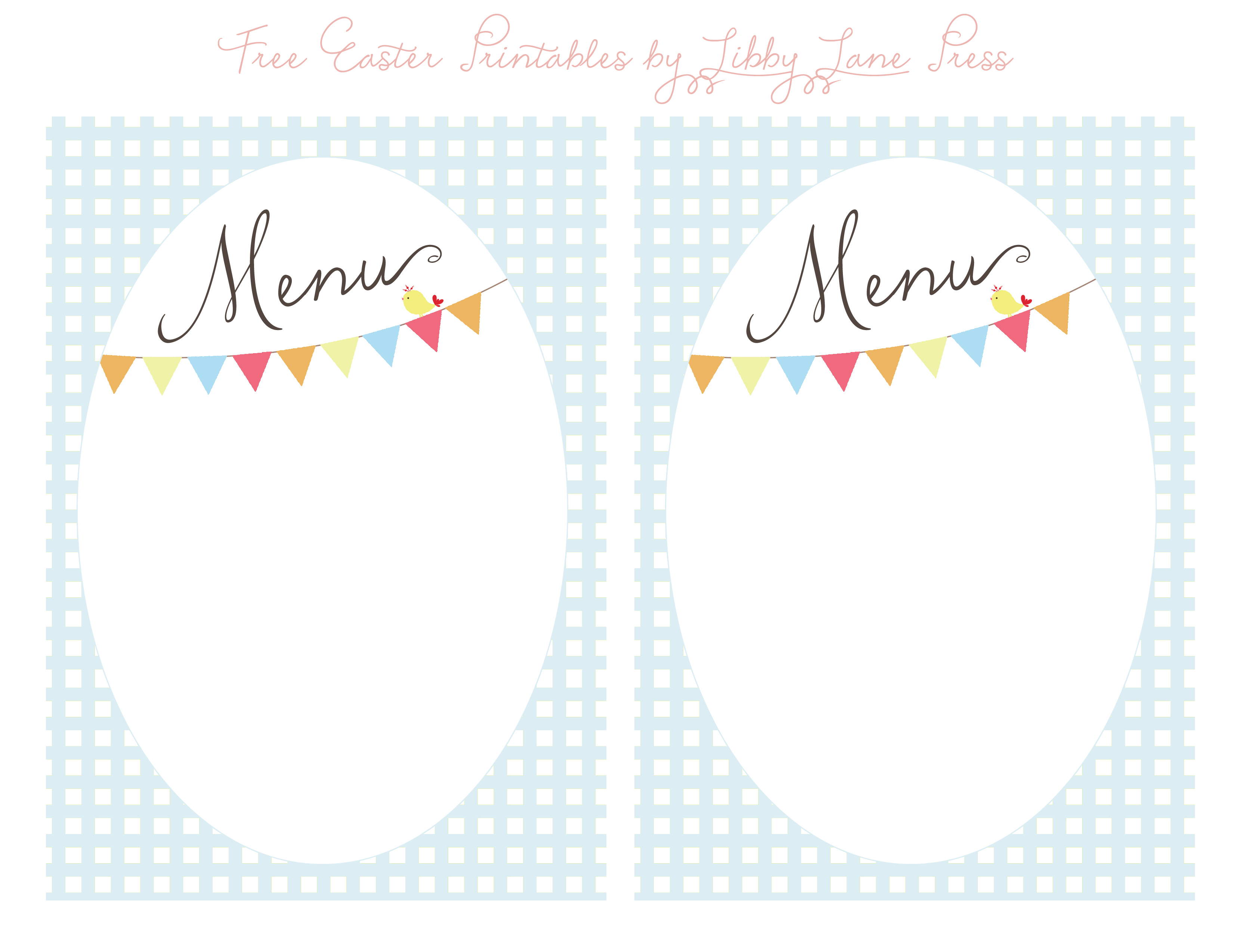 Easter Menu Template For Free – Happy Easter & Thanksgiving 2018 - Free Printable Birthday Menu Templates