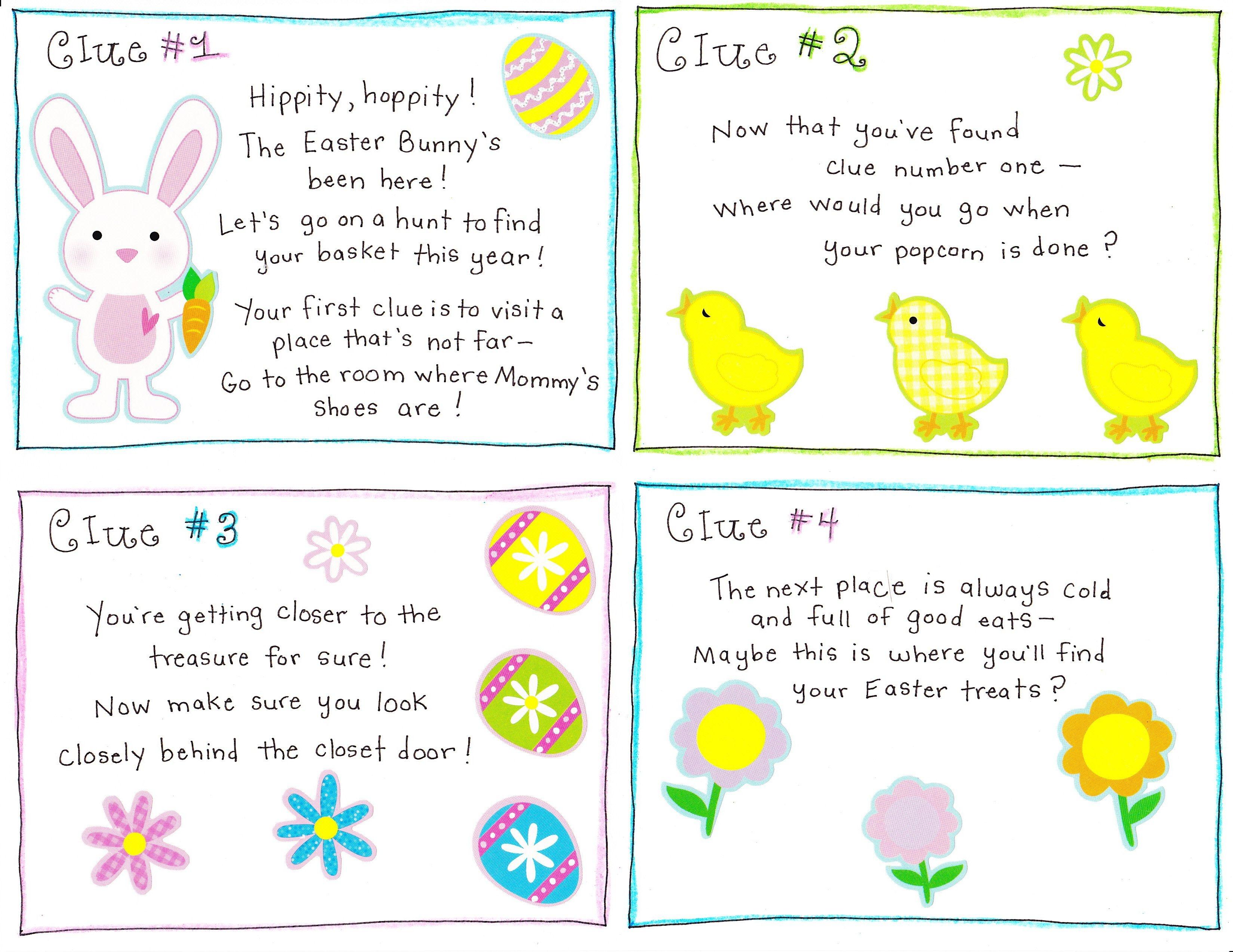 Easter Morning Scavenger Hunt - Free Printable   Easter   Easter - Free Printable Easter Egg Hunt Riddles