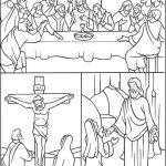 Easter Triduum Coloring Page     Free Printable Good Friday Coloring Pages