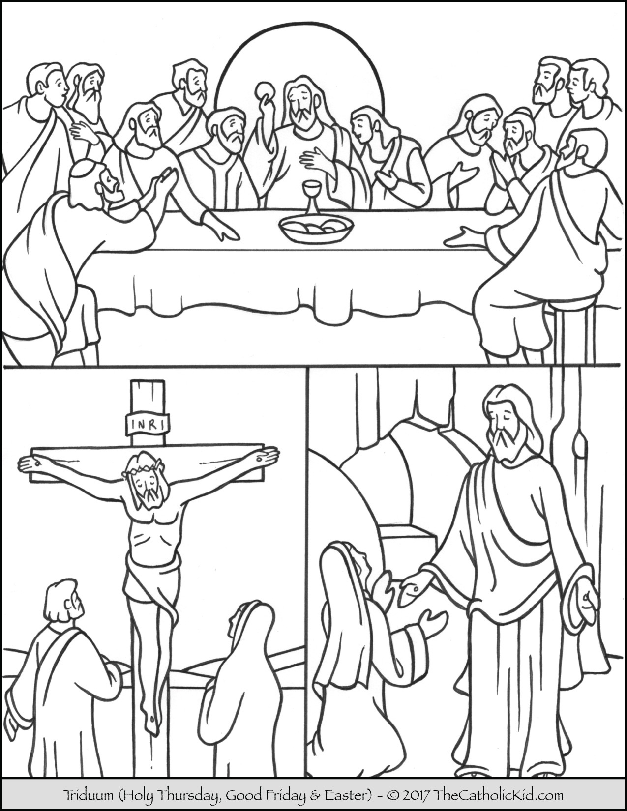 Easter Triduum Coloring Page - - Free Printable Good Friday Coloring Pages