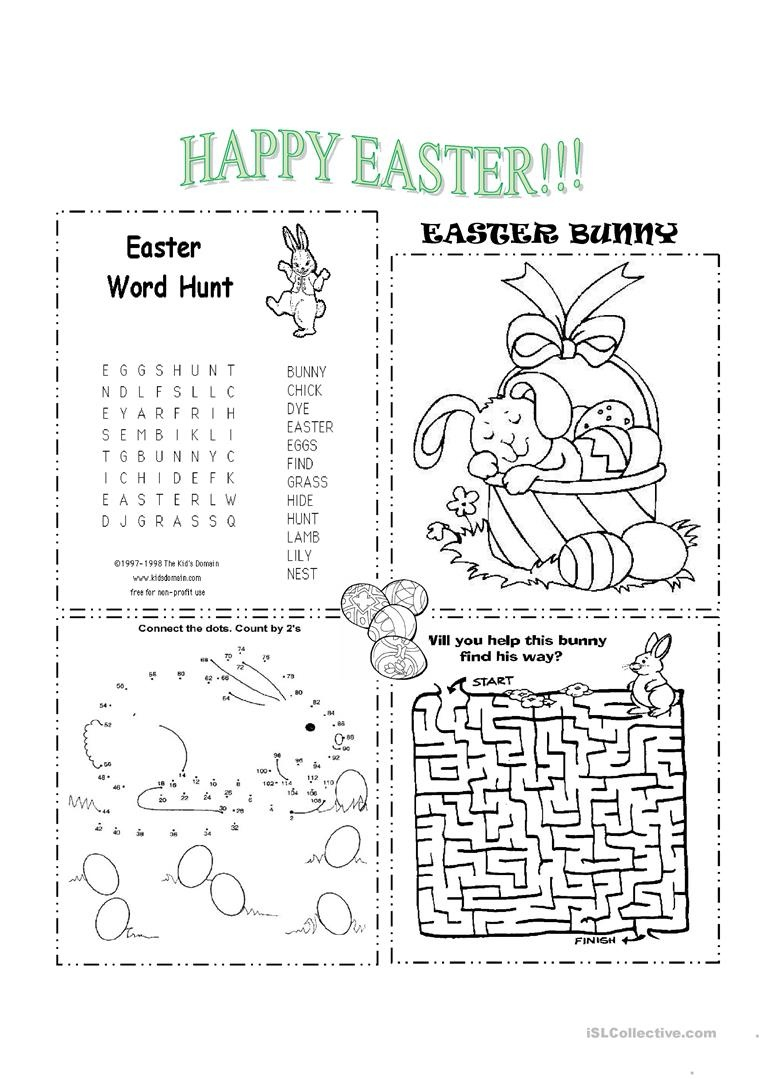 Easter Worksheet - Free Esl Printable Worksheets Madeteachers - Free Printable Easter Worksheets