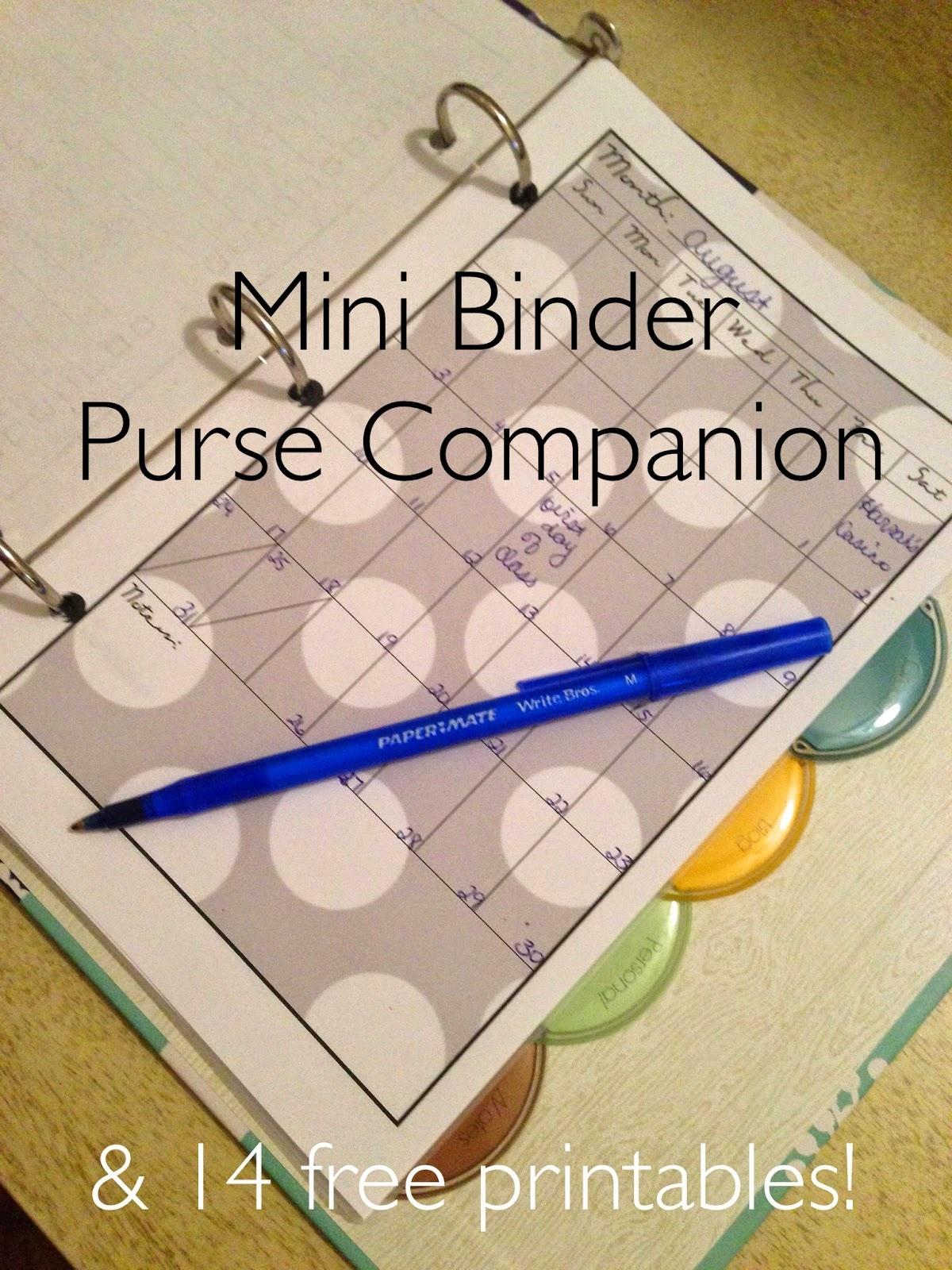 Easy As Diy: Diy: Mini Binder Purse Companion & 14 Free Printables! - Mini Binder Free Printables
