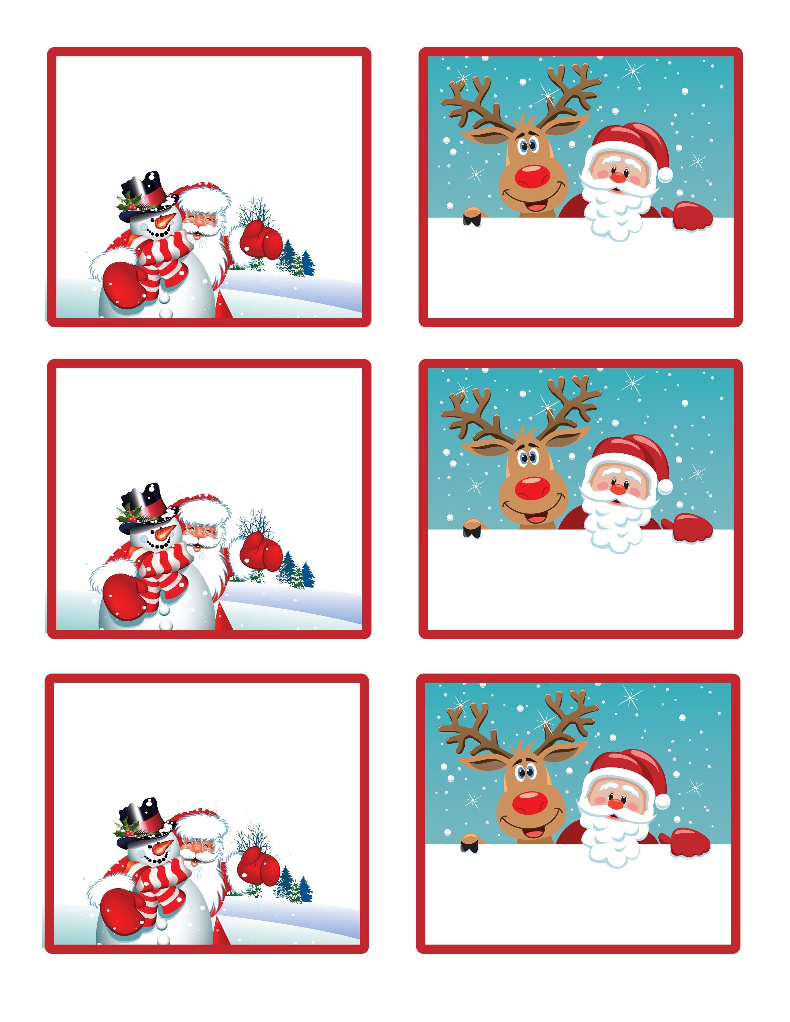 Easy Free Letter From Santa Magical Package | Christmas | Free - Free Printable Christmas Place Name Tags