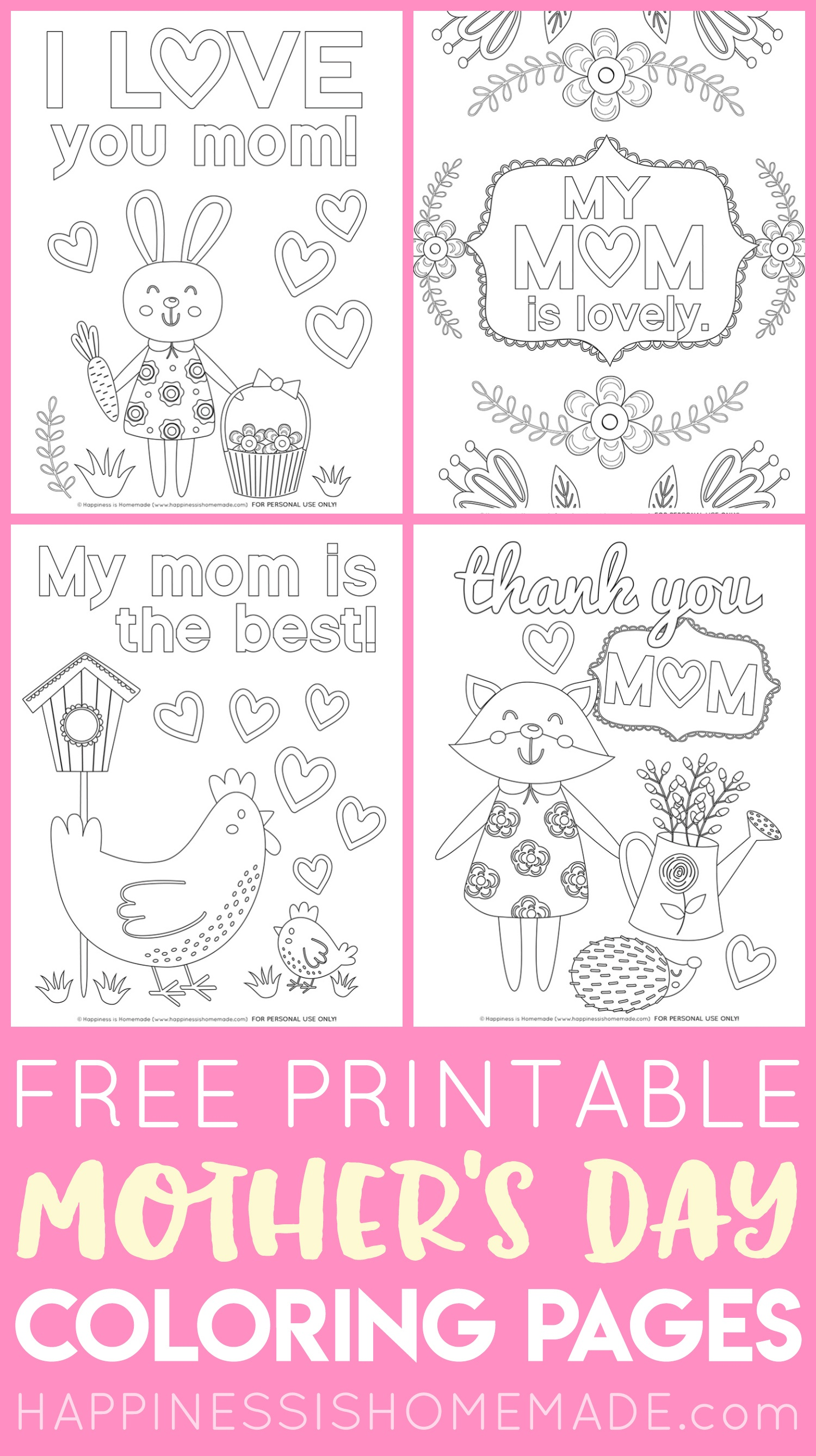 Easy Mother's Day Crafts For Kids - Happiness Is Homemade - Free Printable Mothers Day Crafts