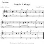 Easy Piano Arrangementpeter Edvinsson Of The Christmas Carol   Free Printable Christmas Sheet Music For Piano