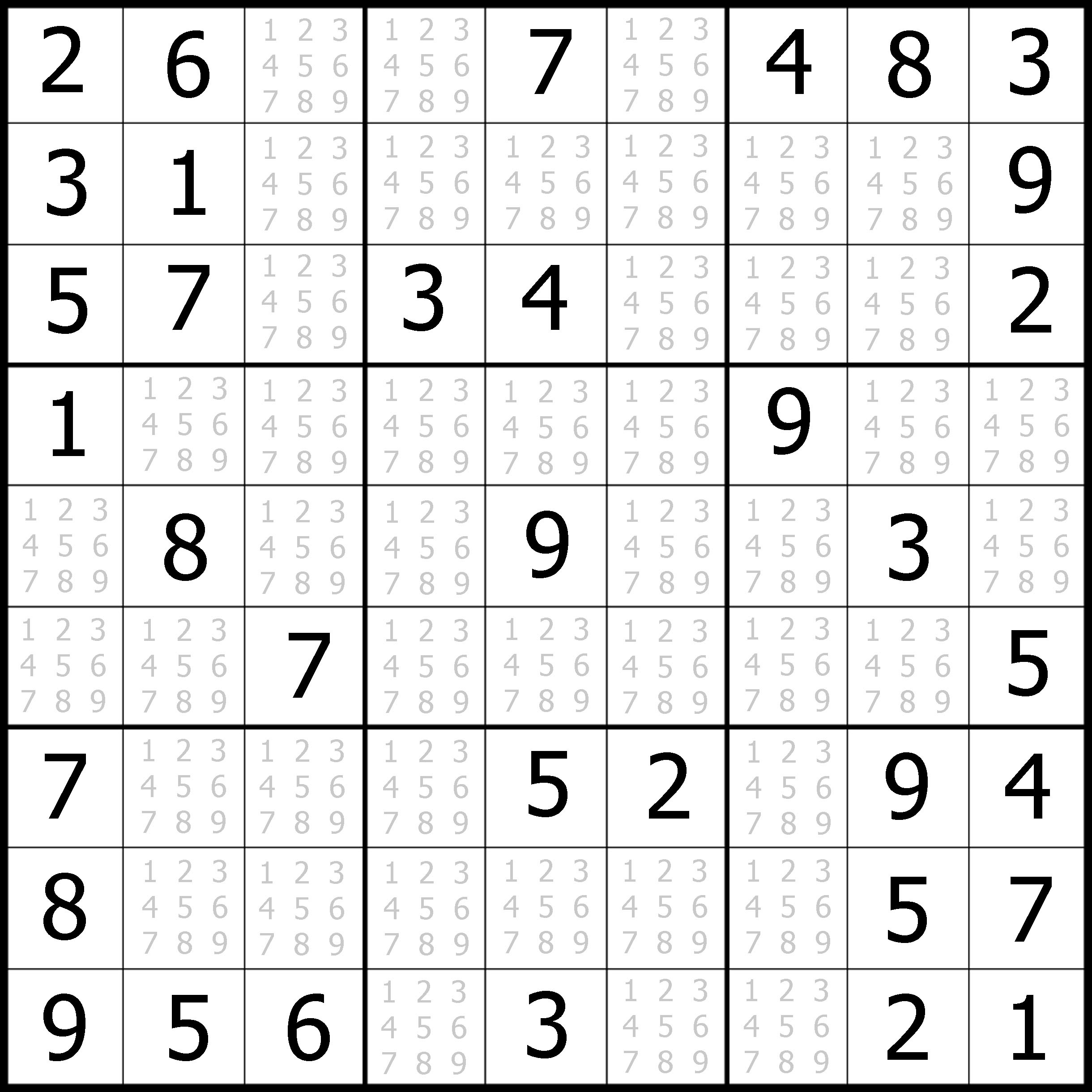 Easy Sudoku Printable | Kids Activities - Free Printable Sudoku