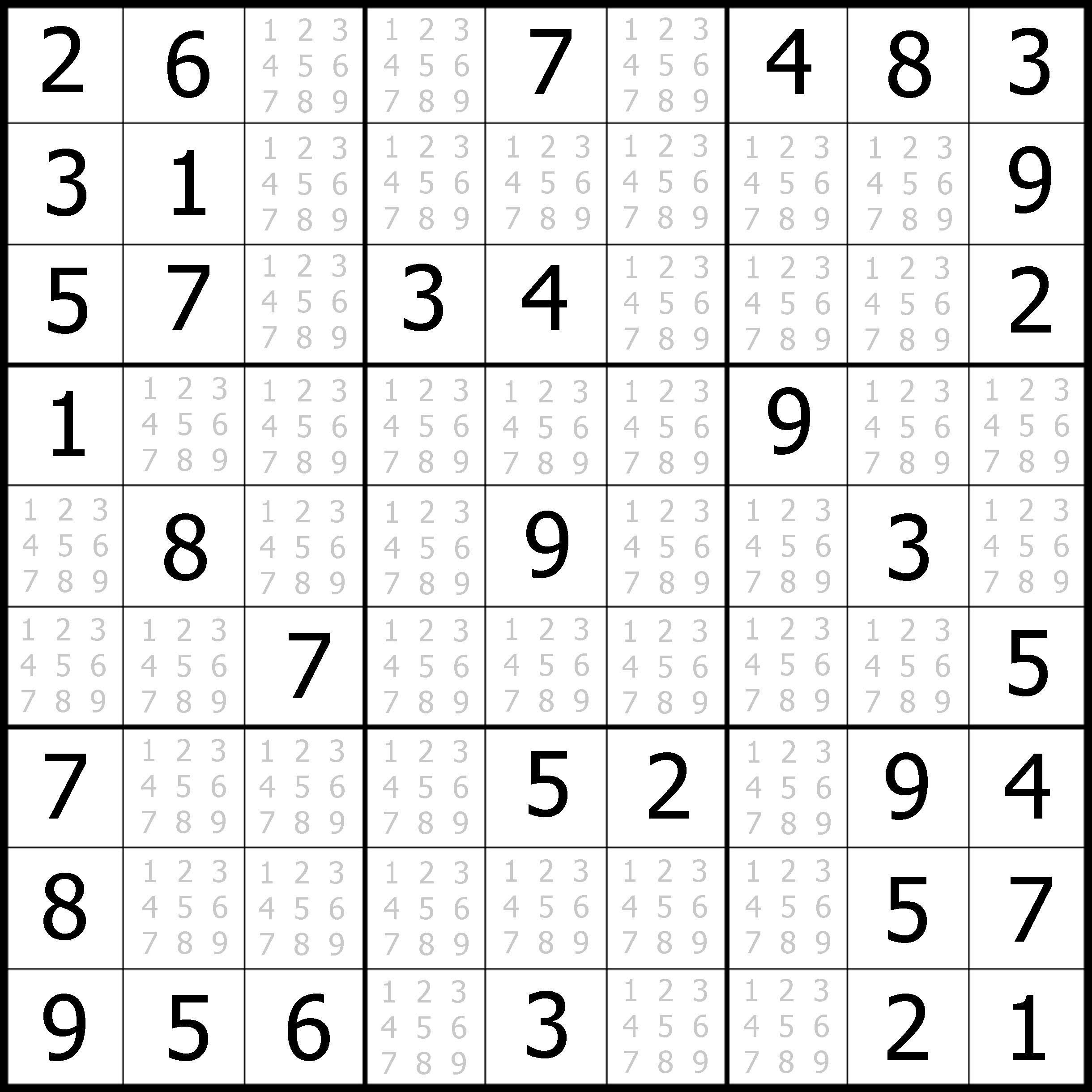 Easy Sudoku Printable | Kids Activities - Free Printable Suduko
