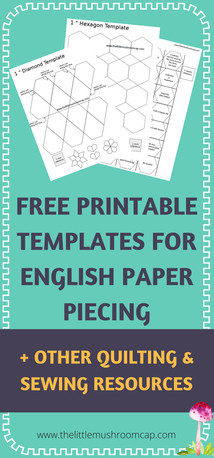 Easy To Use And Free! English Paper Piecing Template, Free - Paper Piecing Patterns Free Printables