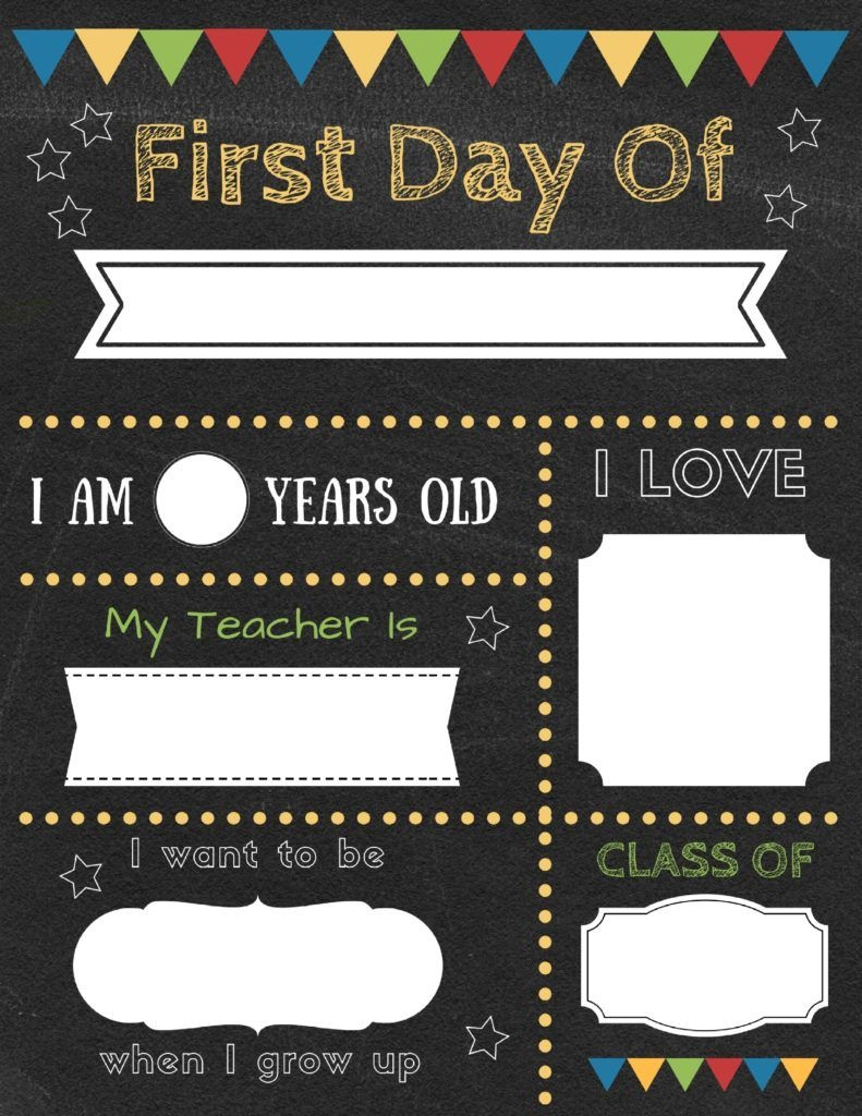 Editable First Day Of School Signs To Edit And Download For Free - Free Printable First Day Of School Chalkboard Signs