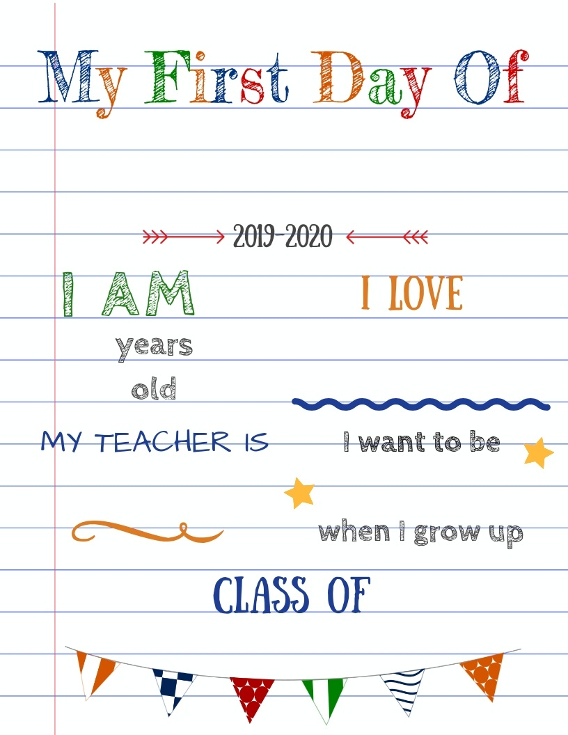Editable First Day Of School Signs To Edit And Download For Free! - Free Printable Signs Templates