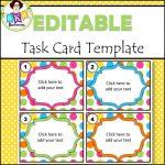Editable Task Card Templates   Bkb Resources   Free Printable Blank Task Cards