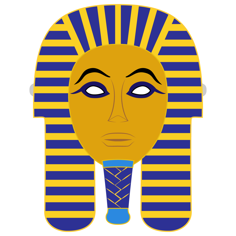Egyptian Death Mask Template | Free Printable Papercraft Templates - Free Printable Egyptian Masks